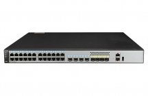 S5720-28X-SI-DC (24 Ethernet 10/100/1000 ports,4 of which are dual-purpose 10/100/1000 or SFP,4 10 Gig SFP+,with 150W DC power supply)
