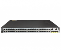S5720-56C-EI-DC (48 Ethernet 10/100/1000 ports,4 10 Gig SFP+,with 1 interface slot,with 150W DC power supply)