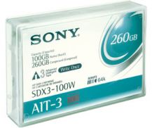 Sony SDX3-100W AIT3 AIT 3 Tape BackUp Cartridge WORM 100GB/260GB